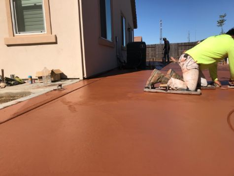 this is a picture of Fremont Colored Concrete