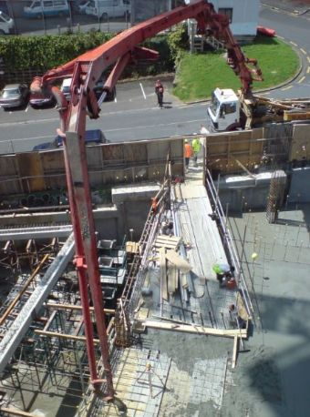 this image shows Fremont Concrete Pouring