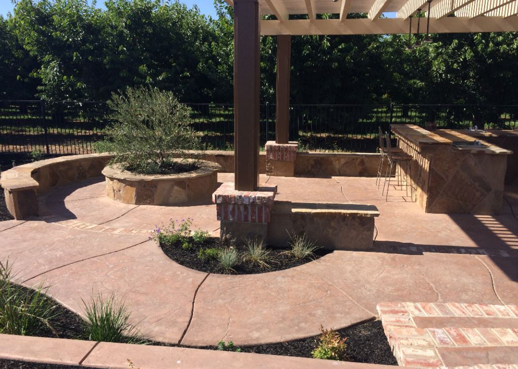 this image shows concrete patio and concrete resurfacing fremont california