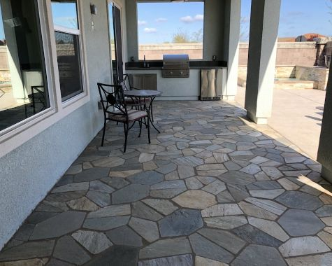 this picture shows fremont california patio