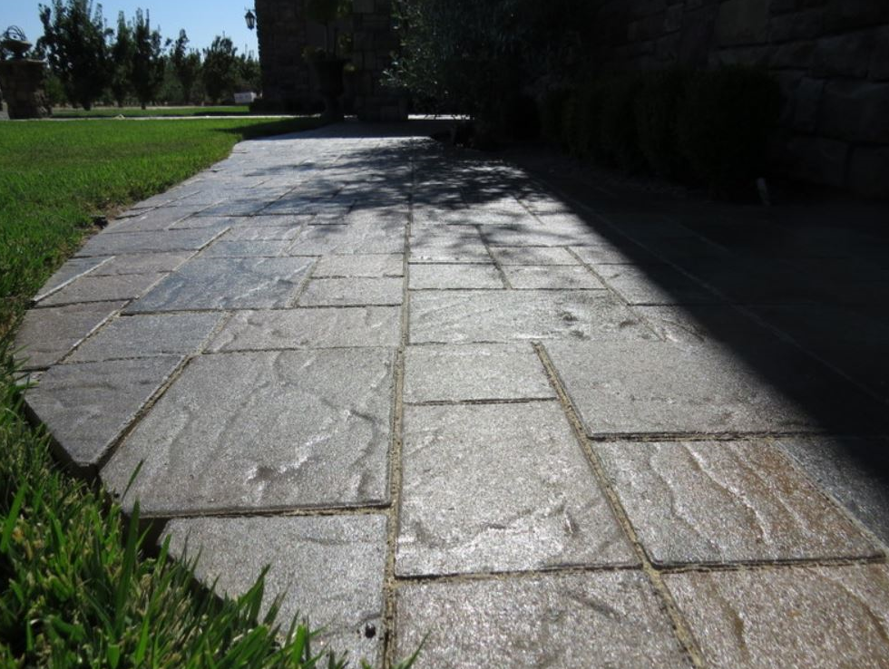 this picture shows stamped concrete patio fremont