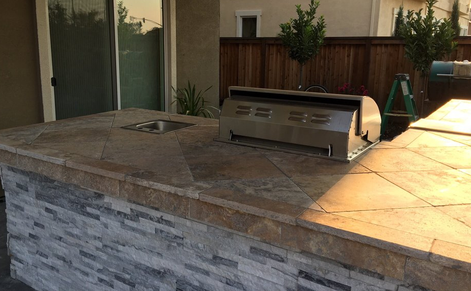this image shows concrete countertop in Fremont, California