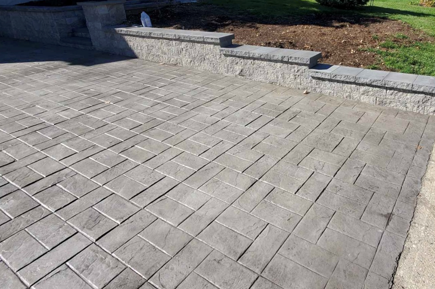 this image shows concrete finishing in Fremont, California