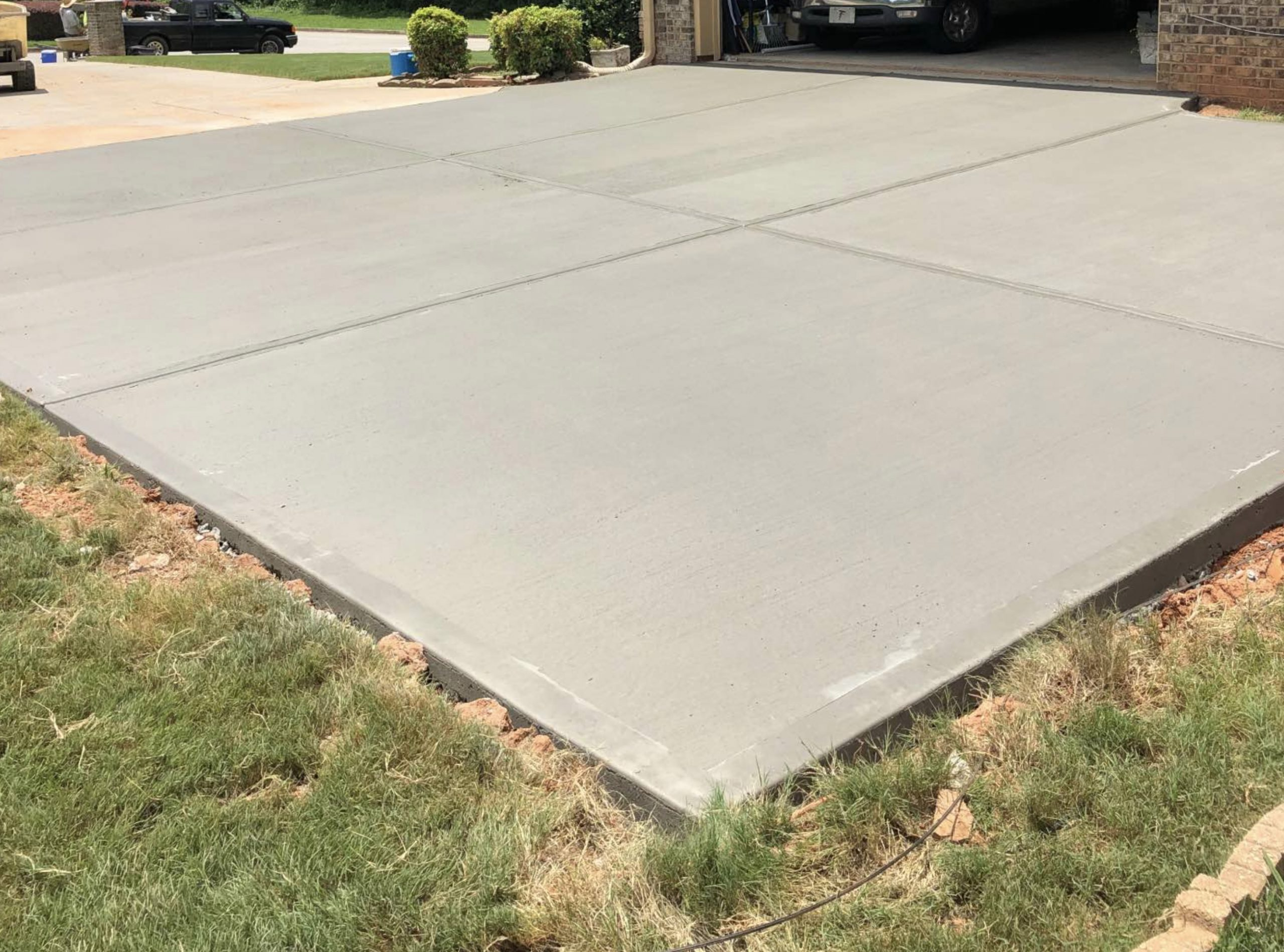 this image shows concrete patios in Fremont, California
