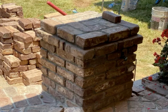 this image shows stone masonry in Fremont, California