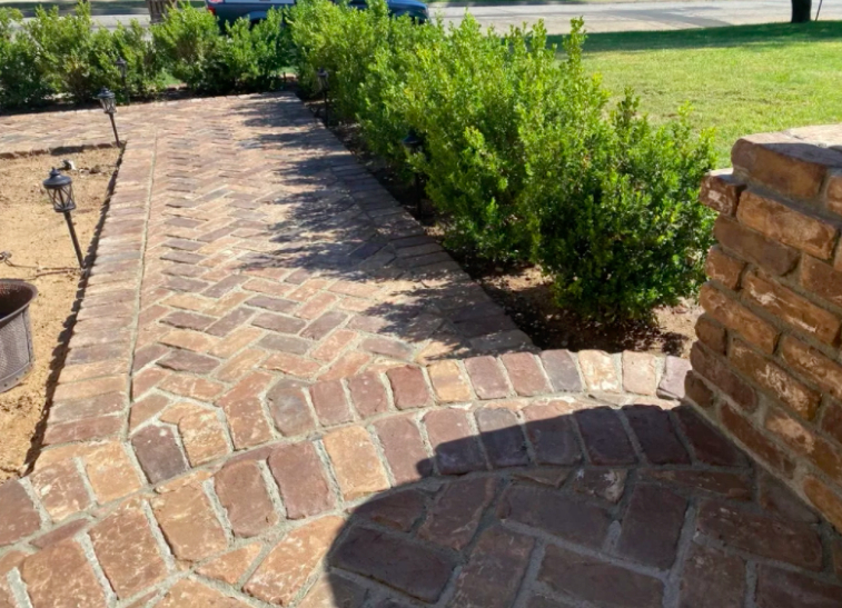 this image shows stone pavements in Fremont, California