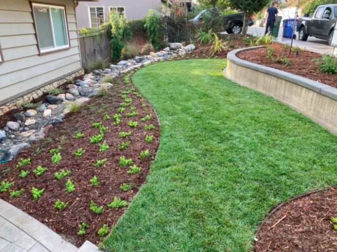 this image shows turf installation in Fremont, California