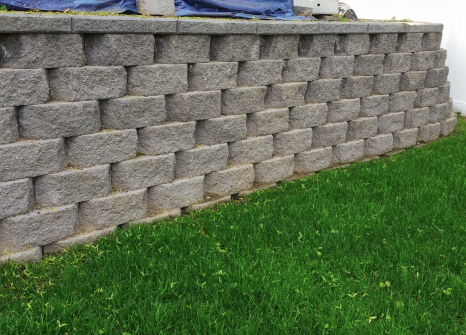 this image shows retaining walls in Fremont, California